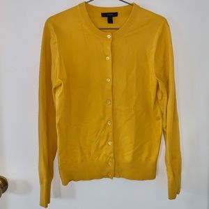 J. CREW Mustard Yellow Cotton Cardigan